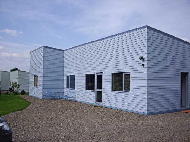 Maison ossature bois bleue