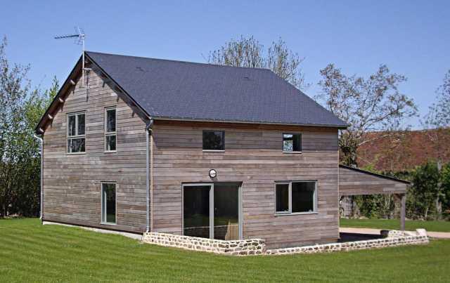 Maison ossature bois en campagne